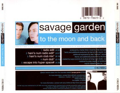 Savage Garden To The Moon And Back Single On Core Music