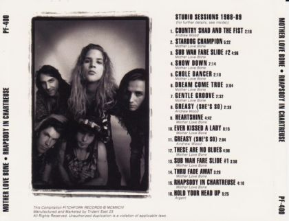 mother love bone rhapsody in chartreuse on collectorz